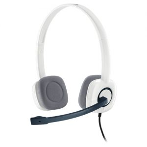 Logitech H150 Stereo Headset with Noise-Cancelling Mic white